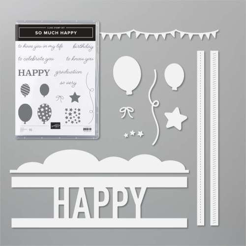 Stampin' Up! So Much Happy bundle - visit juststampin.com for inspiration and ordering information - Jeanie Stark StampinUp