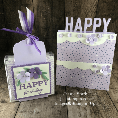 Stampin' Up! So Much Happy birthday card and acetate gift box idea - Jeanie Stark StampinUp