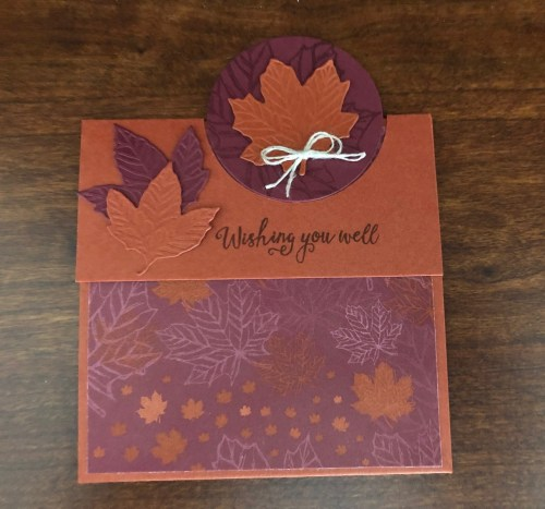 Stampin' Up! Gathered Leaves Get Well Card idea -Jeanie Stark StampinUp