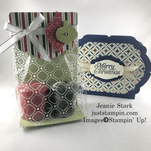 Stampin' Up! Gift packaging ideas using the Celebration Labels Dies and Ornament Punch Pack - Jeanie Stark StampinUp