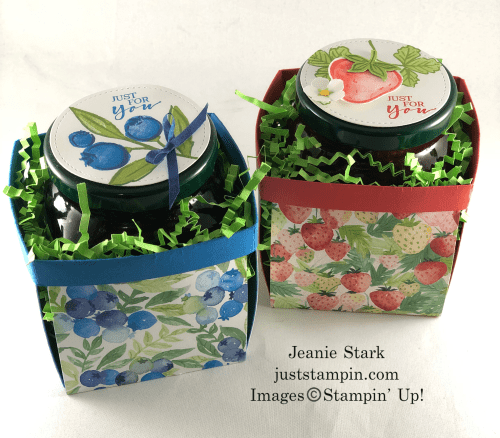 Stampin' Up! Berry Blessings and Sweet Strawberry berry basket gift ideas - Jeanie Stark StampinUp