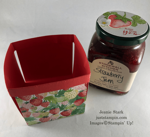 Stampin' Up! Berry Delightful berry basket idea with Sweet Strawberry Bundle - Jeanie Stark StampinUp