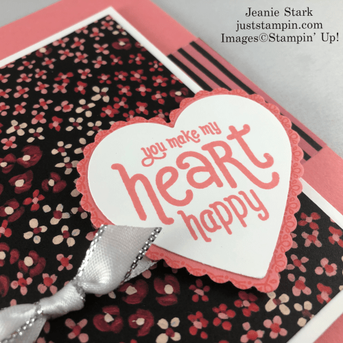 Stampin' Up! Punch Party all occasion card idea with Flower & Fields Designer Series Paper and the Heart Punch Pack - Jeanie Stark StampinUp