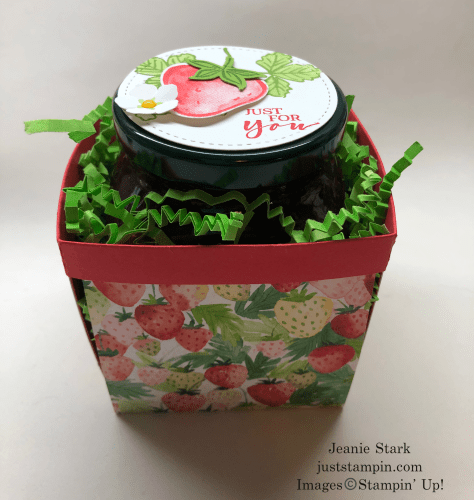 Stampin' Up! Sweet Strawberry basket with Berry Delightful Designer Series Paper - Jeanie Stark StampinUp
