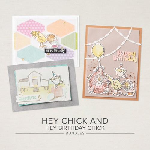 Stampin' Up! Hey Chick and Hey Birthday Chick bundles -visit juststampin.com for inspiration and more - Jeanie Stark StampinUp