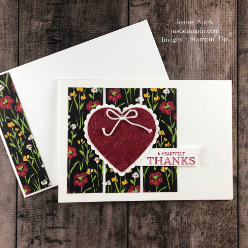 Stampin' Up! Punch Party Flower & Field thank you card idea - Jeanie Stark StampinUp