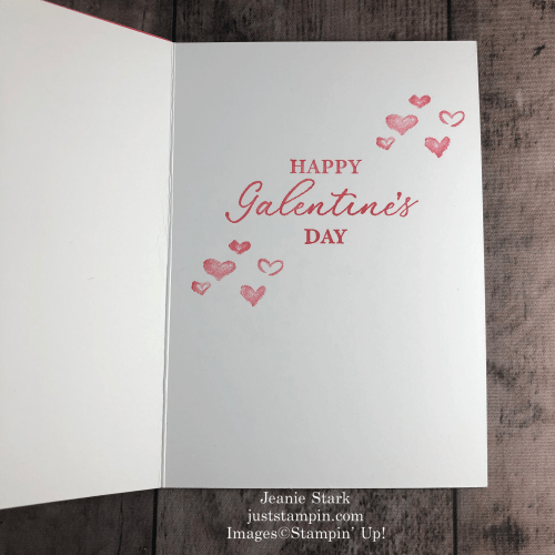 Stampin' Up! Hearts & Kisses Valentine's Day card idea for a friend - Jeanie Stark StampinUp