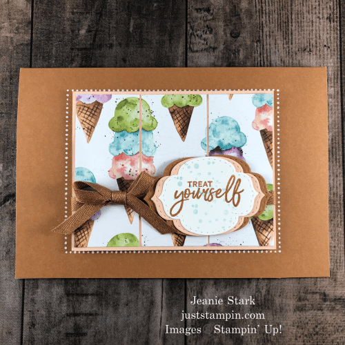 Stampin' Up! Sweet Ice Cream birthday card idea - Jeanie Stark StampinUp