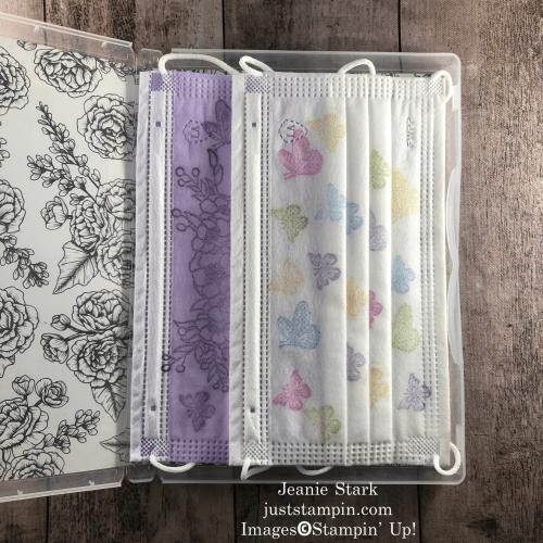 Stampin' Up! True Love Designer Series Paper stamp case for disposable masks - Jeanie Stark StampinUp