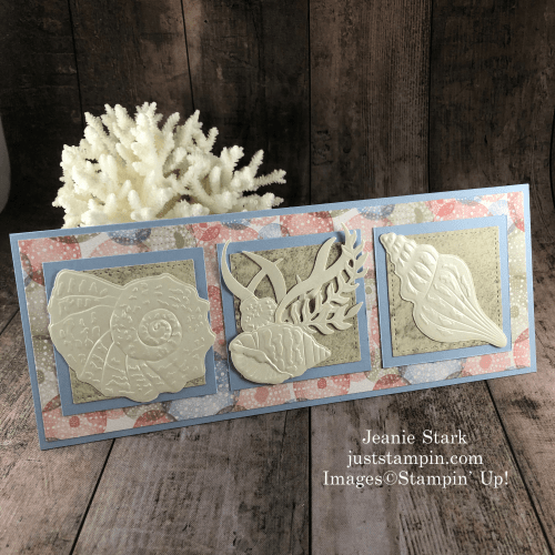 Stampin' Up! Sand & Sea slimline card idea for any occasion - Jeanie Stark StampinUp