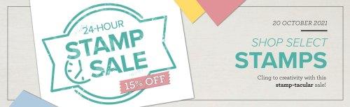 Stampin' Up! 24-Hour Stamp Sale - visit juststampin.com for 15% off select stamp sets - Jeanie Stark StampinUp