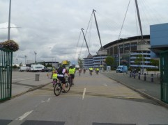 Arriving at The City of Manchester Stadium