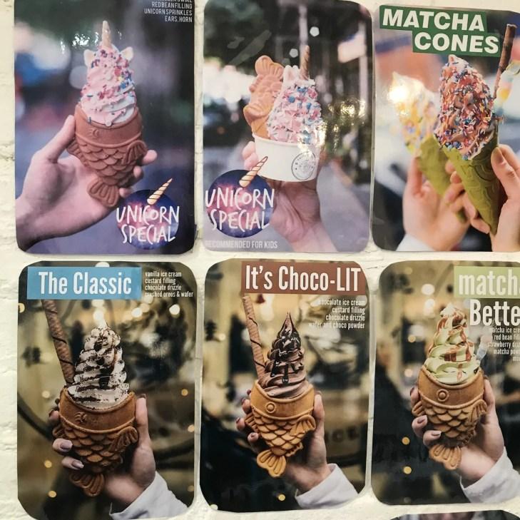 Taiyaki NYC - Ice Cream Menu