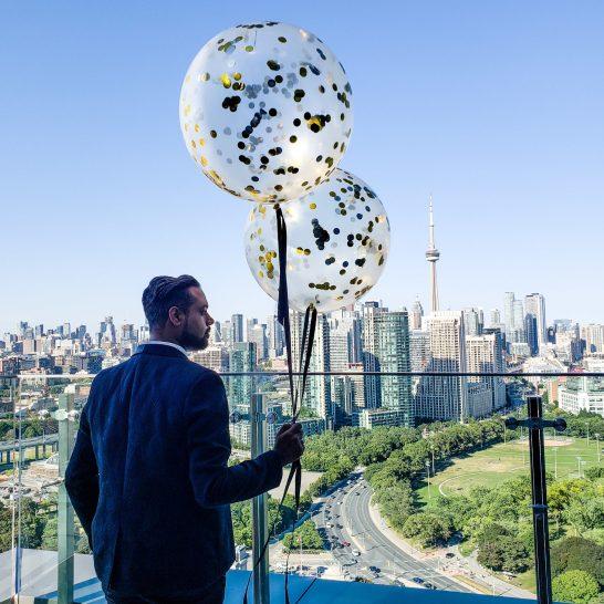 Just Sultan - Hotel X - Birthday Celebration - Balloon Bar Toronto View