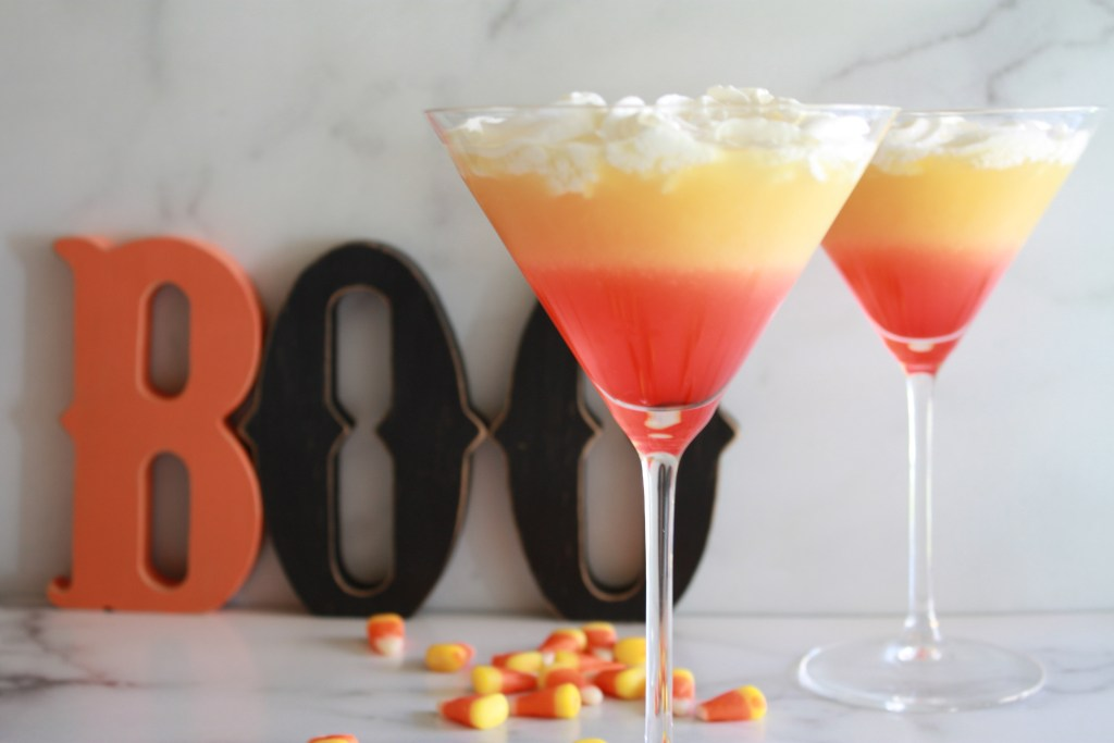 Candy Corn Martini - Halloween Cocktail Recipe