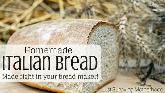 Homemade Italian Bread Made Right In Your Breadmaker