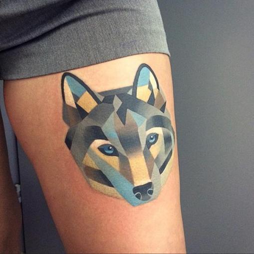 sasha-unisex-watercolor-wolf-tattoo