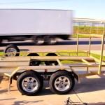 CAR TRANSPORTER, TILTING, 2000Kg GVM 4m x 2m, WHEEL RACK, ALLOY WHEELS