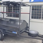 CAMPING Hard top BOX TRAILER, RACK FOR CANOE, SOLAR PANELS CUSTOM JUST TRAILERS ENGINEERING