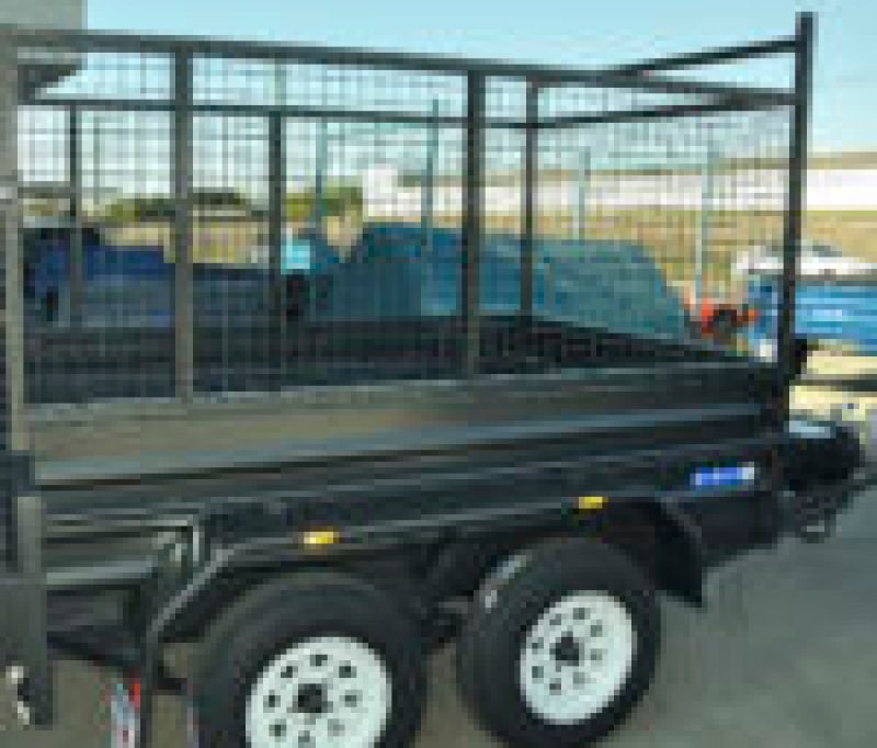 TANDEM HIGH CAGE REAR DRIVE ON RAMP RIDE ON TRAILER JUST TRAILERS ENGINEERING