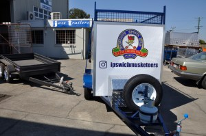JUST TRAILERS DESIGNED SPORTS CLUB Equipment Trailer Built for MUSKETEERS BASEBALL CLUB