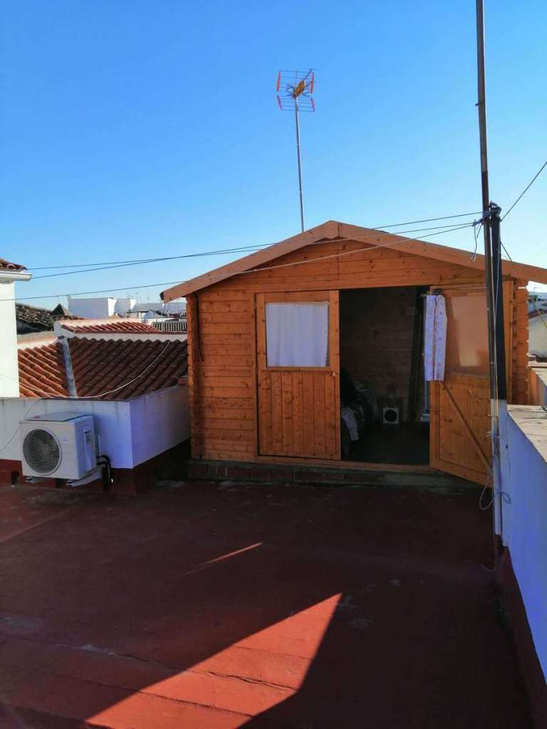 Shed like accommodation on a rooftop in Cordoba