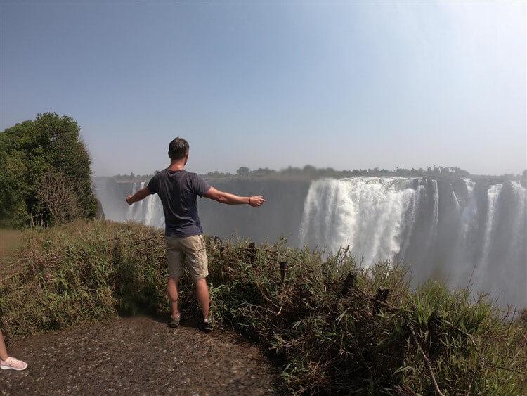 Standing at Victoria Falls