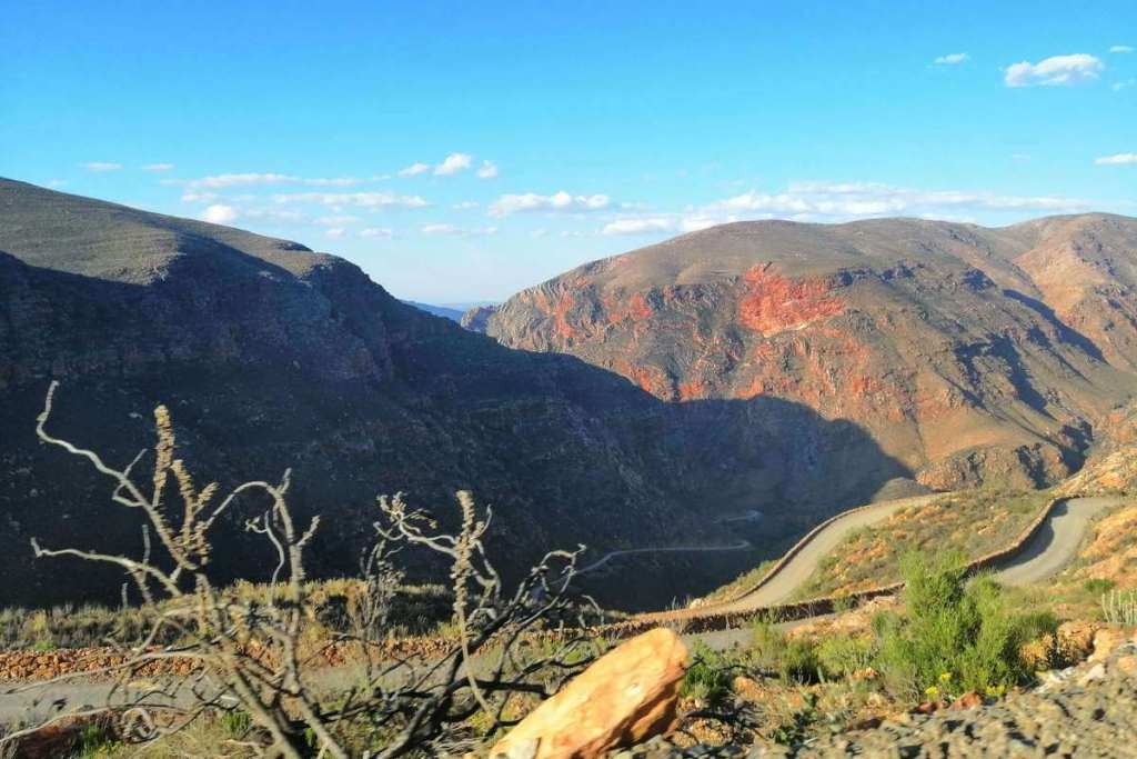 Looking down from the top of Swartberg Pass