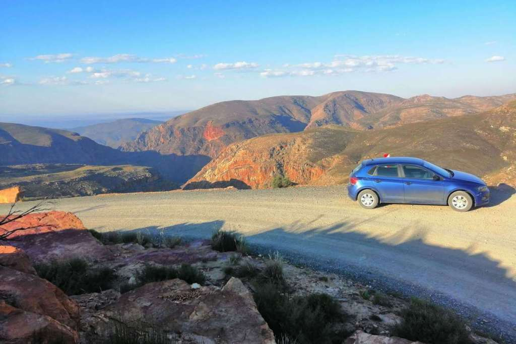 View from the top of Swartberg Pass, South Africa