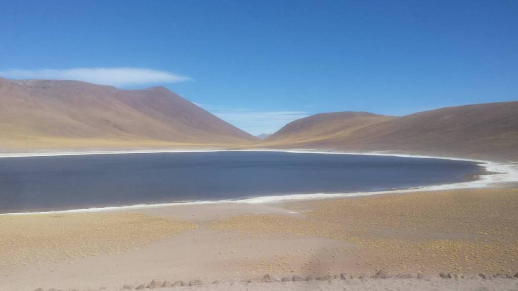 One of the lagunas in the desert