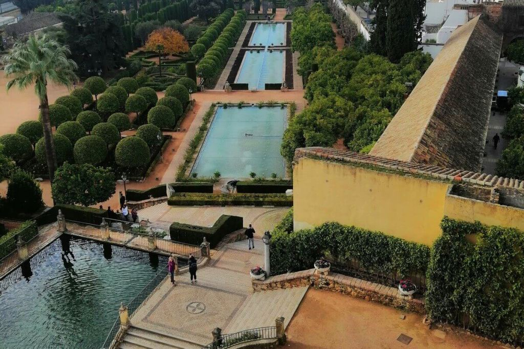 Gardens and water features of the Alcazar