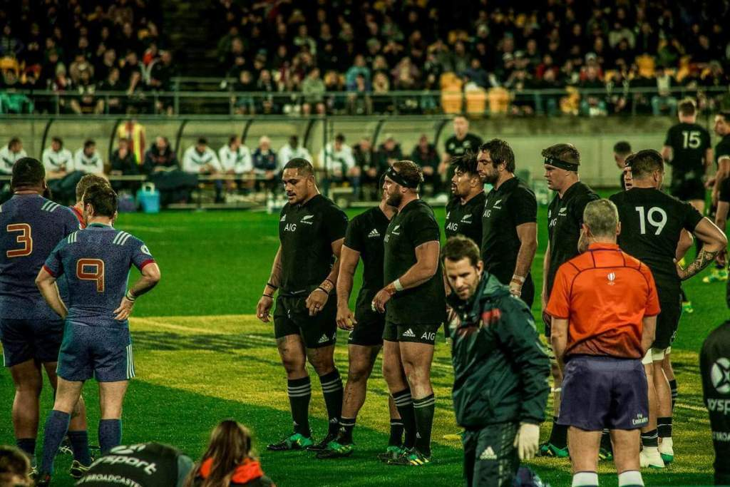 New Zealand rugby union team in action