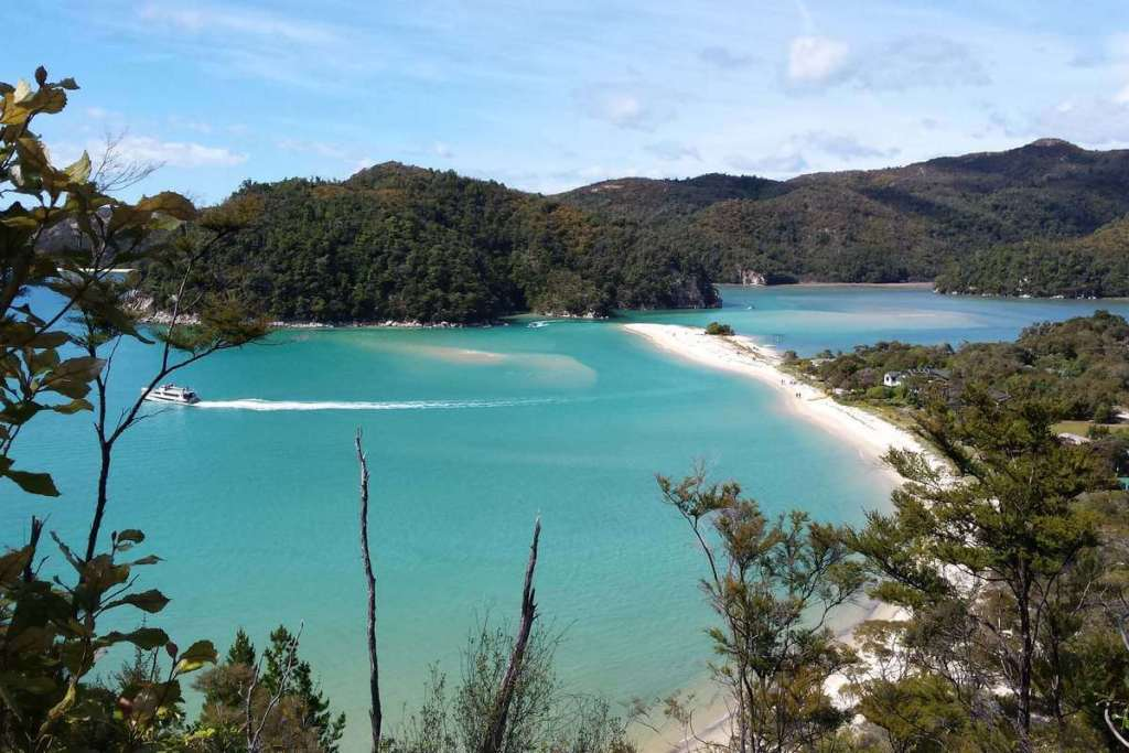 Overlooking the bays of Abel Tasman National Park