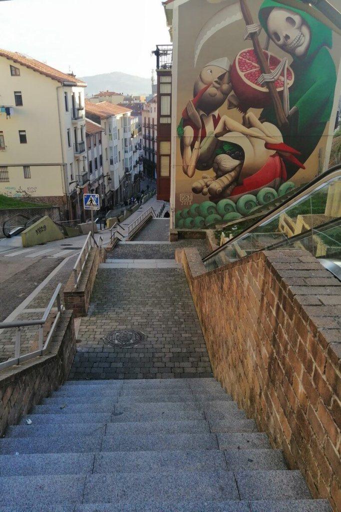 Santander street art on Rio de la Pila