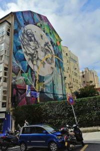 Santander street art on Calle Santa Clara