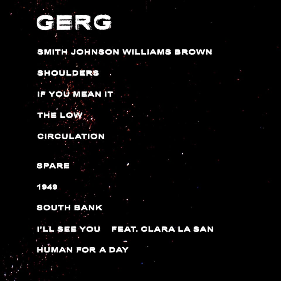 Playlist for the album GERG by Jonah Mutono