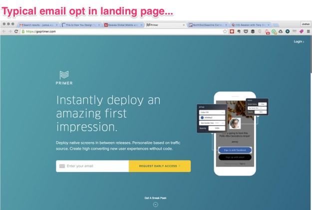 Primer-landing-page