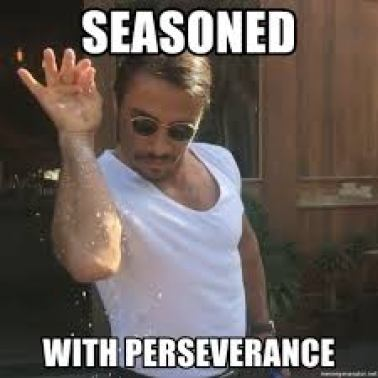 seasoned with perseverance - salt bae1 | Meme Generator