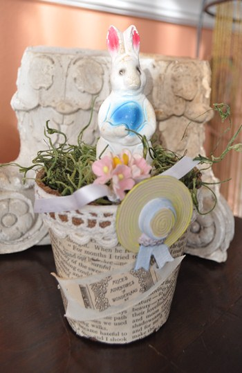 Decorated Peat Pot