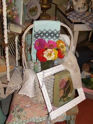 Spring Antique Shop Display