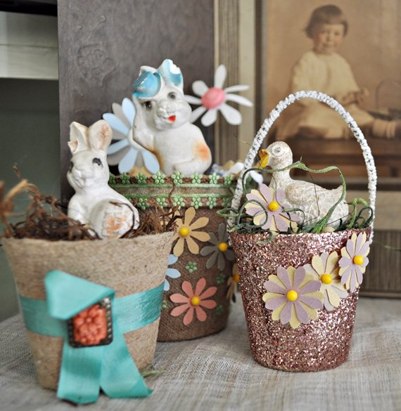 this year 39 s vintage easter decorations just vintage home