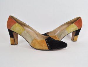 Vintage Viale Milton Italian suede patchwork shoes