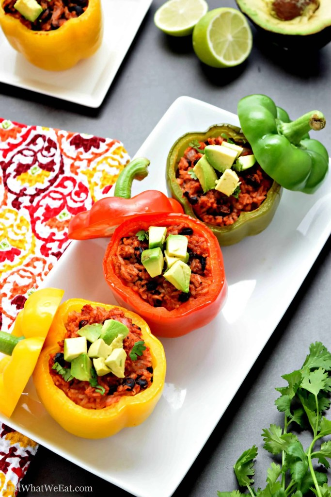 Stuffed Bell Peppers that are gluten free, vegan, vegetarian, and healthy