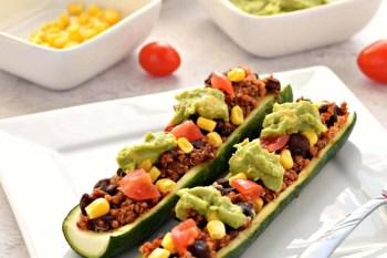 Mexican Zucchini Boats – Gluten Free, Vegan