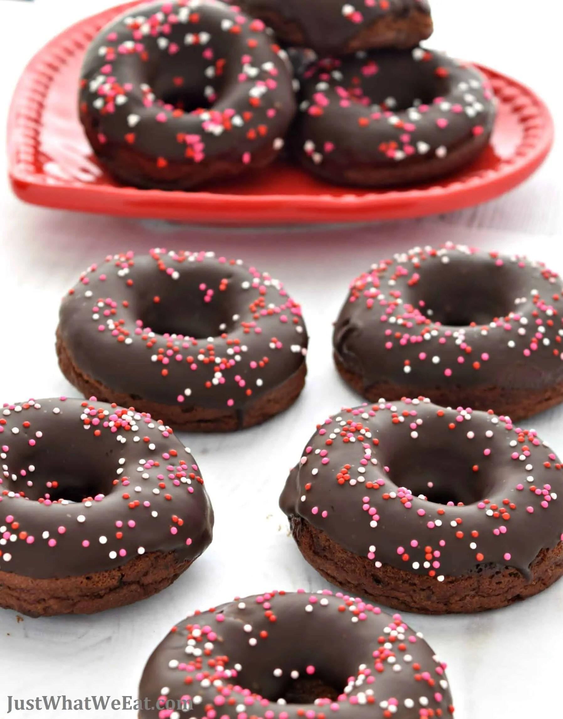 Baked Chocolate Cake Donuts - Gluten Free, Vegan, Refined Sugar Free