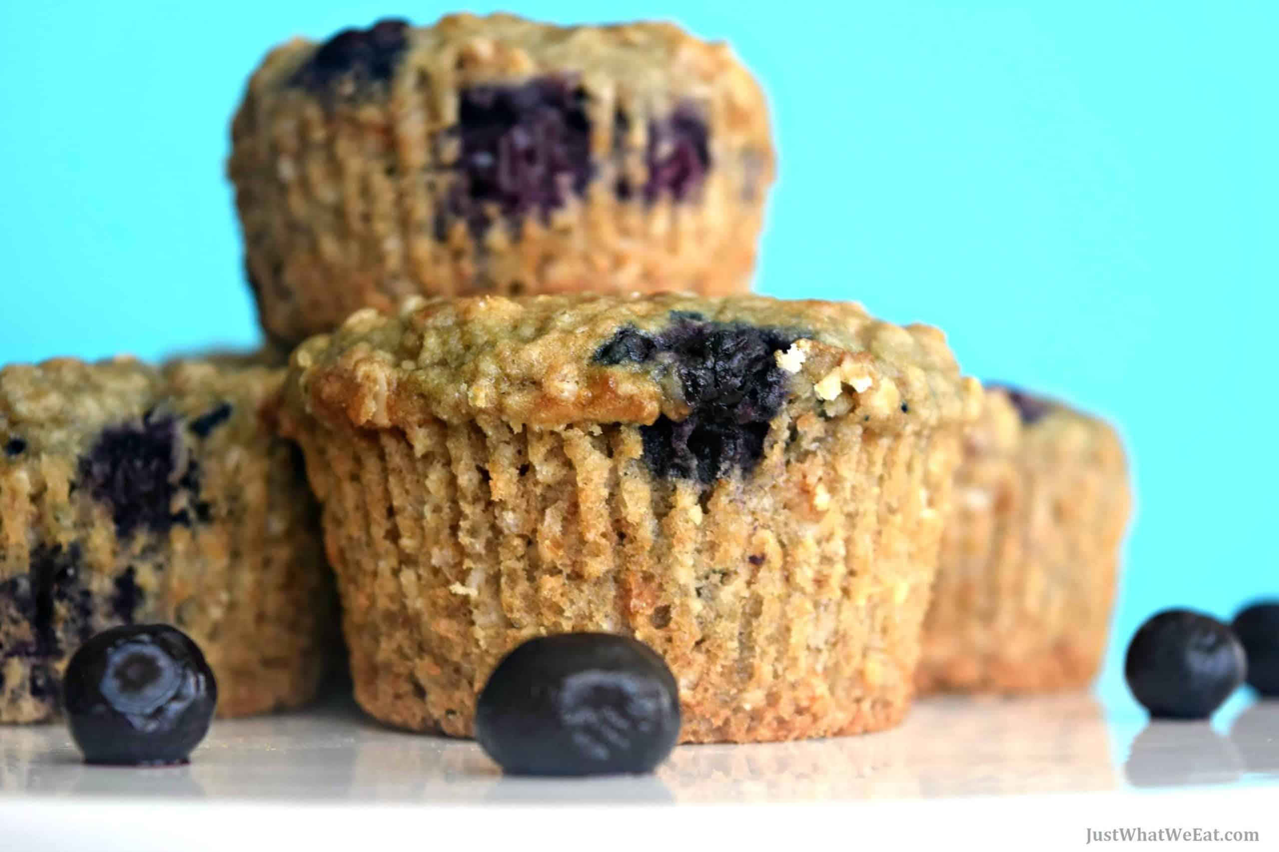Blueberry Oat Muffins - Gluten Free, Vegan, & Refined Sugar Free