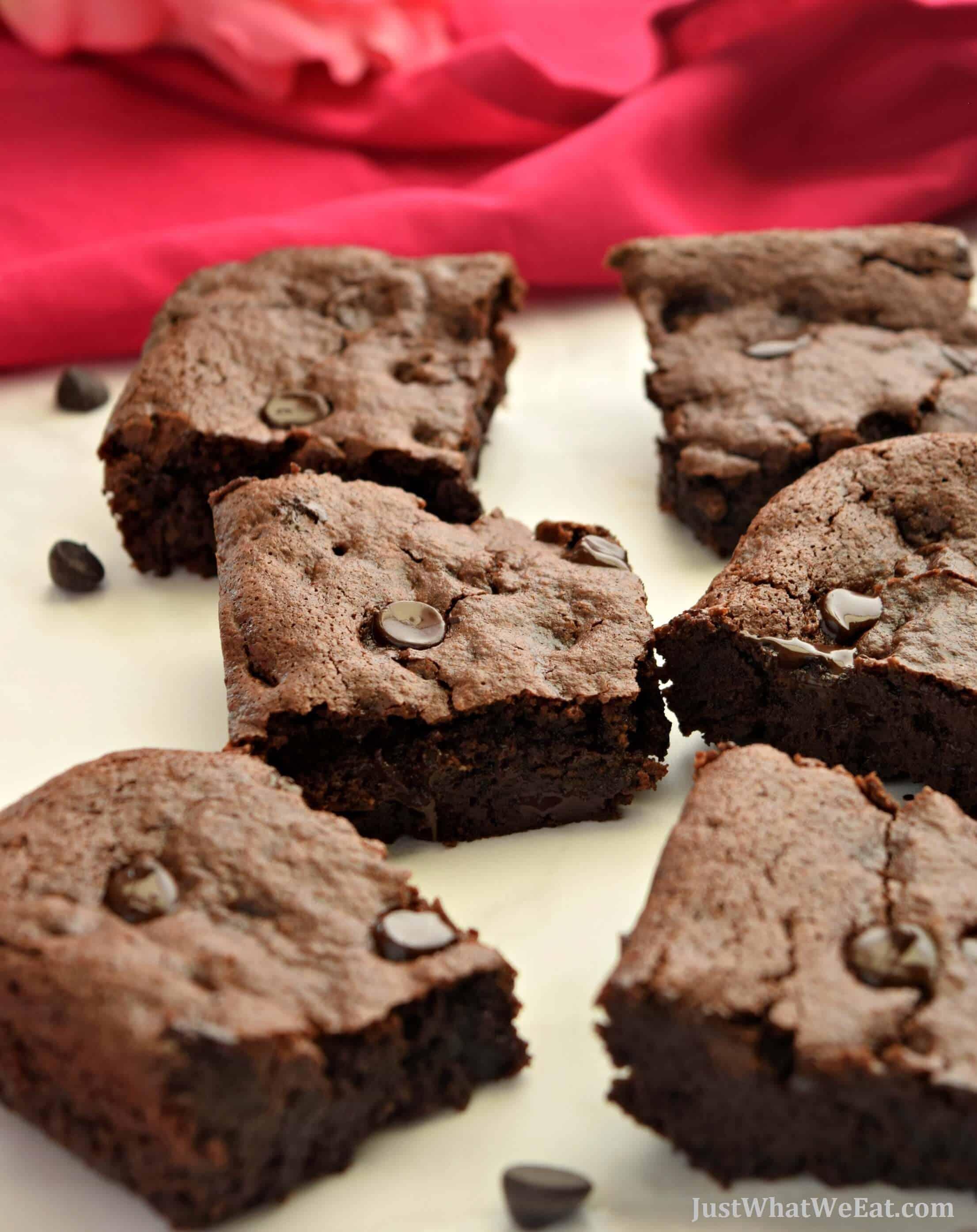 Fudgy Brownies - Gluten Free, Vegan, & Refined Sugar Free