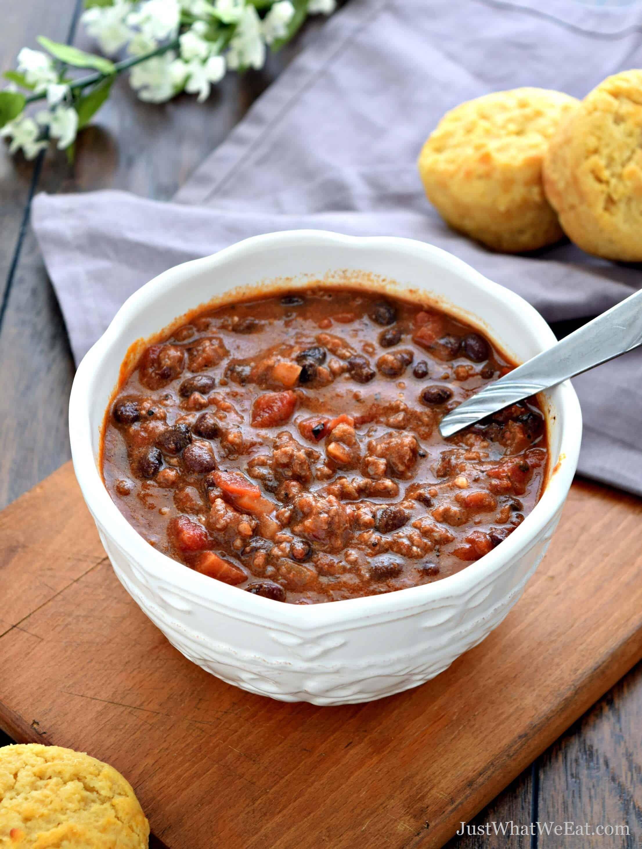 Beef and Bean Chili - Gluten Free & Dairy Free