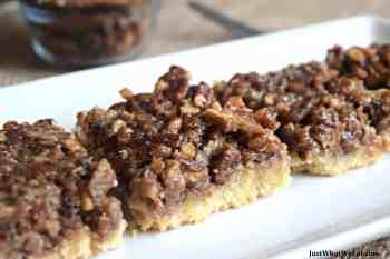 Pecan Pie Bars – Gluten Free, Vegan, & Refined Sugar Free