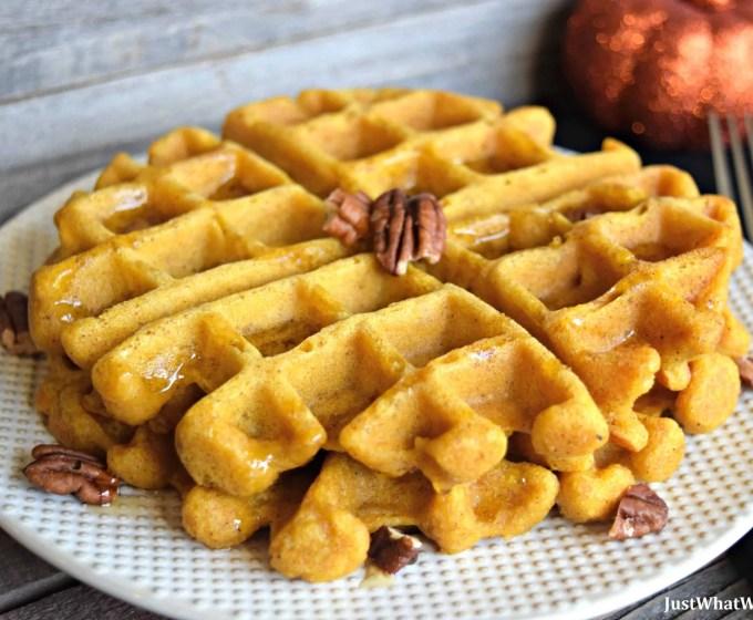Pumpkin Waffles and Pancakes – Gluten Free, Vegan, & Refined Sugar Free